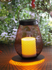 Solar Outdoor Powered Iron Metal Lantern with Decorative New Design LED Candle Holder in High Quality