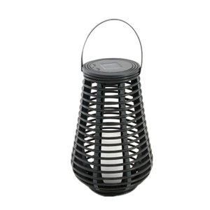 Solar Outdoor Antique Tall Rattan Lantern (small Size)-led Garden Decorative Lantern