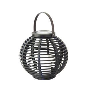 Solar Round Rattan Lantern Garden Light (small Size) -led Garden Decorative Lights Outdoor