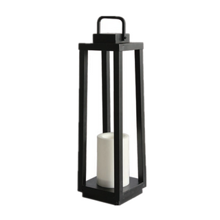 Solar Outdoor Powered Iron Metal Lantern ( Medium Size) with LED Candle Holder in High Quality