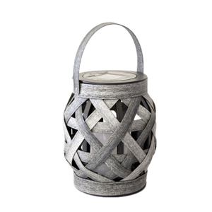 Solar Column Shaped Rattan Lantern (mini Size) -led Garden Decorative Lights Outdoor