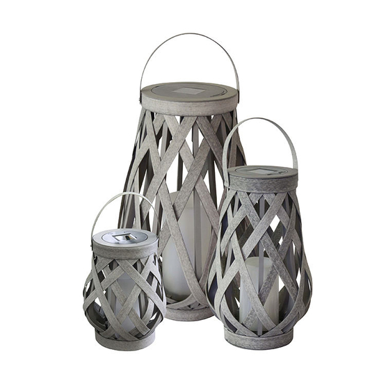 Battery Operated Round Rattan Lantern, Outdoor Garden Lights Battery Operated