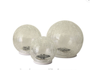 Solar LED Glass Crack Ball(10CM) ---LED Garden Decorative Lights Outdoor