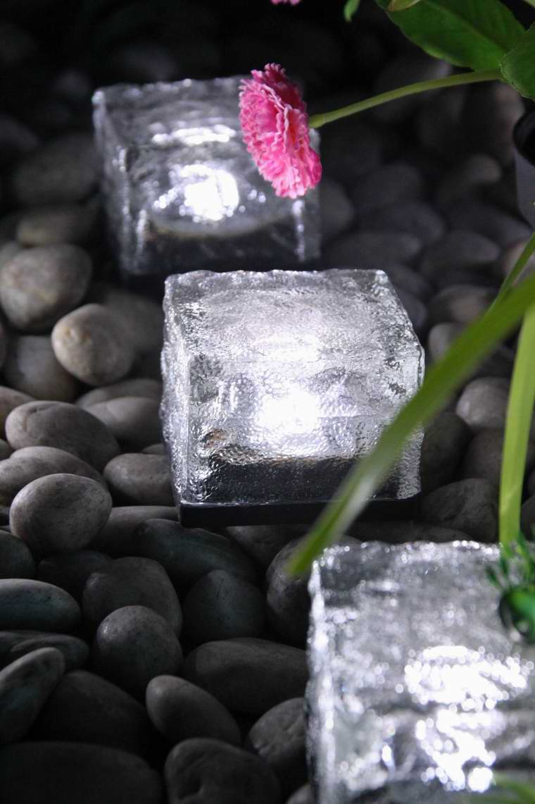 Solar LED Garden Decorative Glass Light Outdoor - Waterproof Ice Brick Decorative Lights
