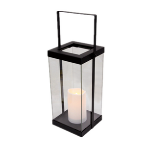 Decorative Lights Outdoor Candle Light Lantern Metal Solar Lantern