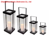 Solar Powered Metal Antique Glass Lantern - Mini Size-solar Outdoor LED Garden Decorative Lights