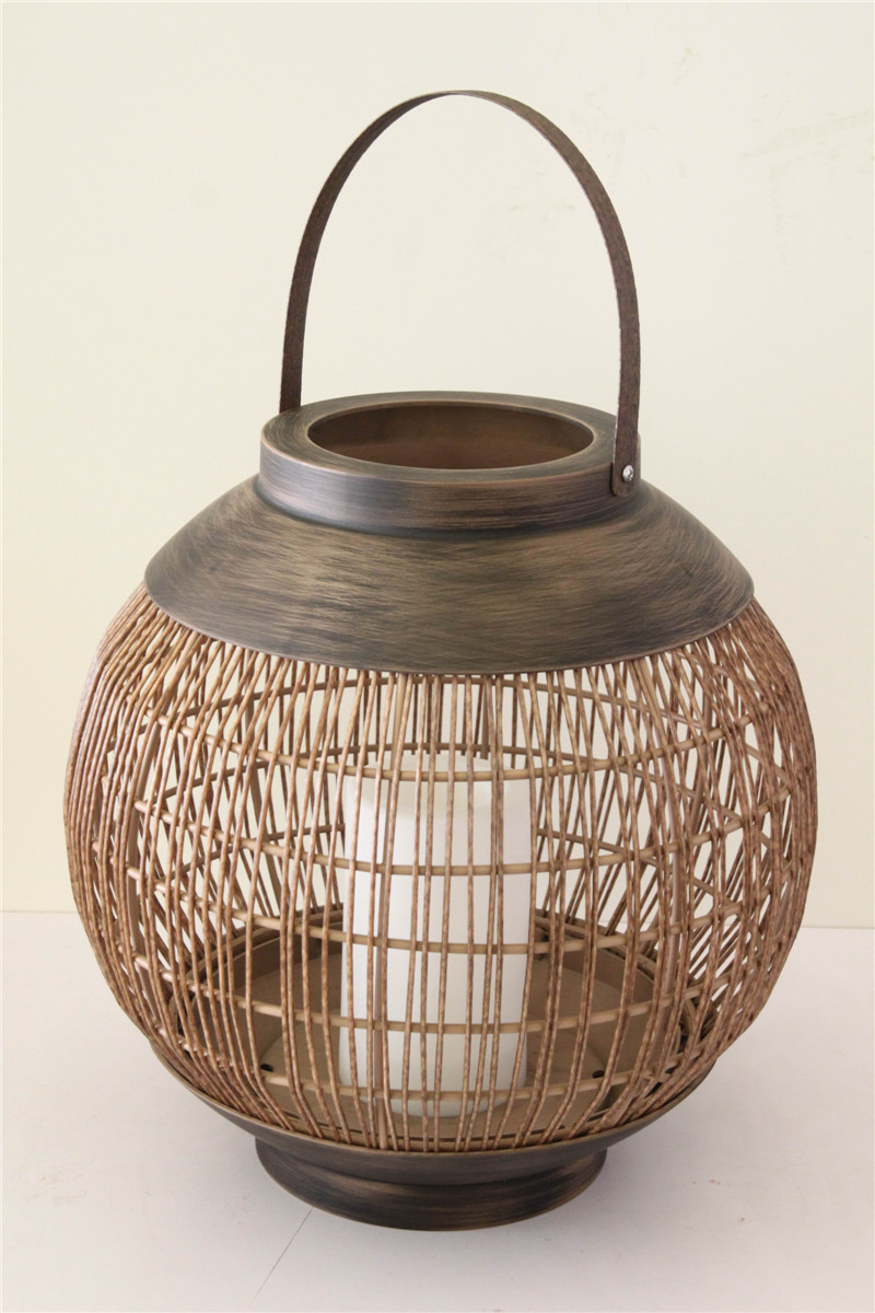 Battery Operated Rattan Basket- Ball Shape (Large size)